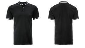 Polo noir, vêtements image libre de droits