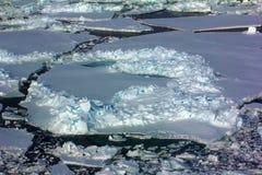 Polo Norte 2016 El hielo y las aberturas en el paralelo 84-88 Foto de archivo libre de regalías
