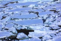 Polo Norte 2016 El hielo y las aberturas en el paralelo 84-88 Imágenes de archivo libres de regalías
