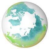 Polo Norte, mapa, tração da mão Fotografia de Stock