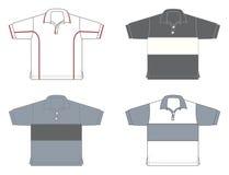 Polo-overhemden, verschillende modellen en kleuren stock illustratie