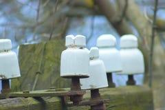 Polo para uso general de madera del poder Fotografía de archivo