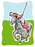 Polo Player. Illustration of a polo player Royalty Free Stock Photos
