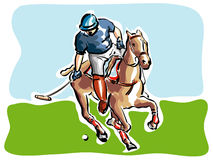 Polo Player. Illustration of a polo player stock illustration