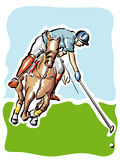 Polo Player. Illustration of a polo player Stock Image