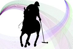 Polo Player Background Stock Image