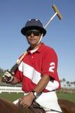 Polo Player On Horseback imagenes de archivo