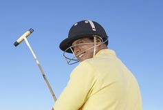 Polo Player With Stick Royalty Free Stock Images