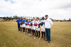 Polo Players Group Portrait Immagini Stock