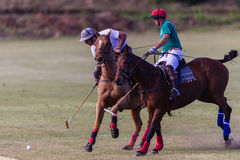 Polo Players Ponies Action Ball Stock Images