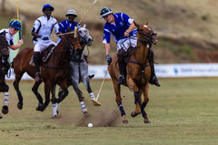 Polo Players Ponies Play Action Fotografia Stock
