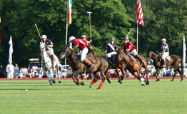 Polo Players in Portsmouth, RI USA Stock Photos