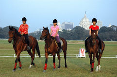 Polo playing in Kolkata-India Royalty Free Stock Photos