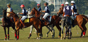 Polo playing in Kolkata-India Stock Photo