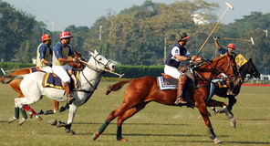Polo playing in Kolkata-India Royalty Free Stock Image