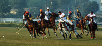 Polo playing in Kolkata-India Stock Photography