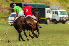 Polo Ponies Players Action Stockfotos
