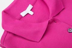 polo różowa koszula Fotografia Stock