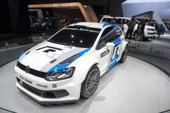 Polo R WRC - première russe de Volkswagen Images stock