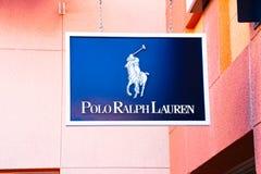 Polo Ralph Lauren Logo On Store Front tecken Royaltyfri Bild