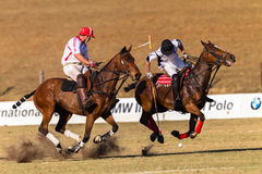 Polo Rider Horse Play Action Images libres de droits