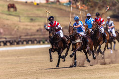 Polo Riders Horses Play Action. Polo Players and horse ponies in action with games at Shongweni equestrian grounds Hillcrest outside Durban in South Africa Royalty Free Stock Photography