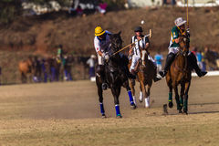 Polo Riders Horses Play Action. Polo Players and horse ponies in action with USA plays South Africa games at Shongweni equestrian grounds Hillcrest outside Royalty Free Stock Images