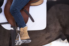 Polo saddle Royalty Free Stock Images