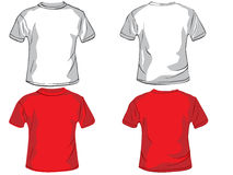 Polo shirt design template. With front and back royalty free illustration