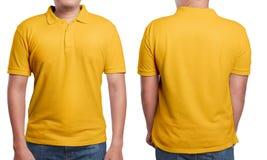 Polo Shirt Design Template arancio Fotografia Stock Libera da Diritti