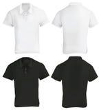 Polo Shirt Design Template blanco y negro Fotografía de archivo