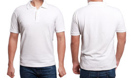 Polo Shirt Design Template branco Imagem de Stock Royalty Free