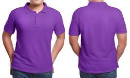 Polo Shirt Design Template porpora Fotografia Stock Libera da Diritti