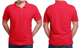 Polo Shirt Design Template rosso Fotografie Stock Libere da Diritti