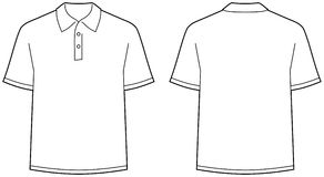 Polo Shirt - Front And Back View Isolated Royalty Free Stock Image