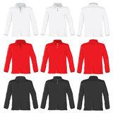 Polo shirt with long sleeves Royalty Free Stock Images
