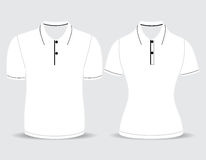 Polo shirt men and woman outline Royalty Free Stock Photos