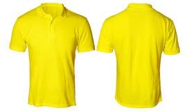 Polo Shirt Mock amarelo acima foto de stock