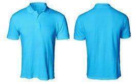 Polo Shirt Mock azul acima fotos de stock royalty free