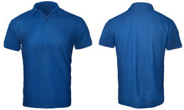 Polo Shirt Mock blu su Fotografia Stock Libera da Diritti