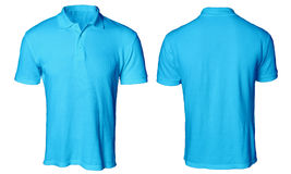 Polo Shirt Mock blu su Fotografie Stock Libere da Diritti