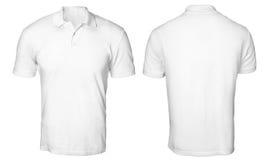 Polo Shirt Mock branco acima imagem de stock royalty free