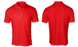Polo Shirt Mock rosso su Immagine Stock
