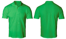 Polo Shirt Mock verde su Immagini Stock