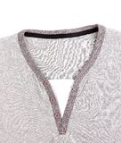 Polo Shirt no collar close-up. Royalty Free Stock Image