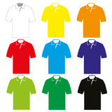 Polo Shirt. Set of colorful Polo shirt´s for men vector illustration