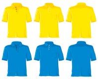 Polo shirt set. Yellow & blue Royalty Free Stock Image