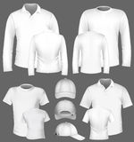 Polo shirt and t-shirt design template Stock Photography