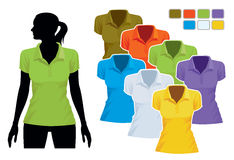 Polo shirt template Stock Images