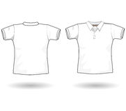 Polo shirt template. The men polo shirt template Royalty Free Stock Images